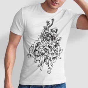 Volga - T-shirt męski biały
