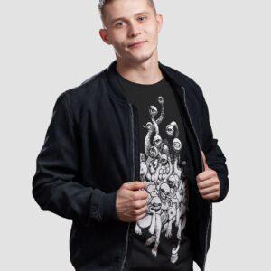 Tshirt volga czarna