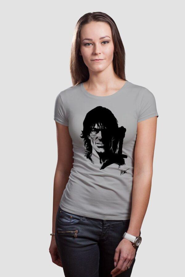 Thorgal portret - T-shirt damski szary - model