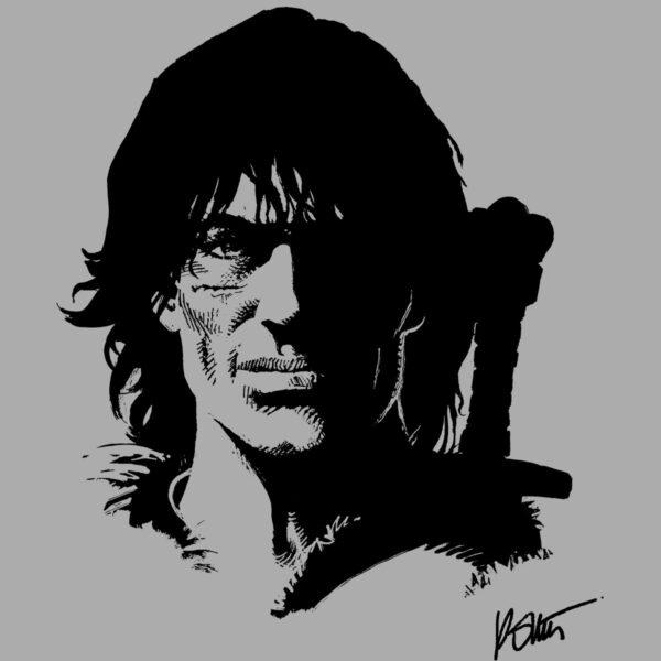 Thorgal portret - T-shirt szary - wzór