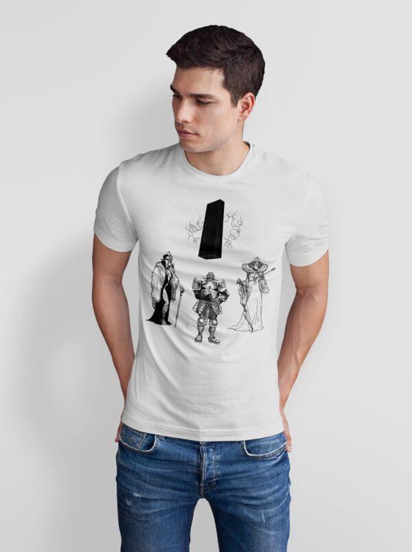 Władcy - T-shirt męski biały - model
