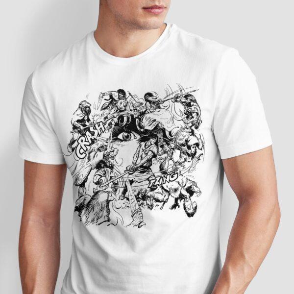 Walka w kręgu - T-shirt męski biały