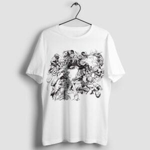 Walka w kręgu - T-shirt męski biały - wieszak