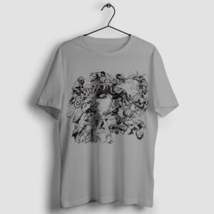 Walka w kręgu - T-shirt męski szary - wieszak