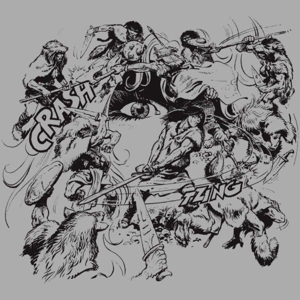 Walka w kręgu - T-shirt szary - wzór