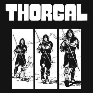 Thorgal kadry - T-shirt czarny - wzór