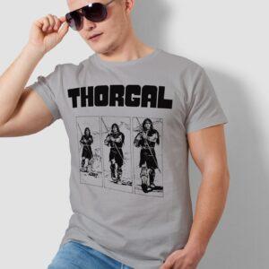 Thorgal kadry - T-shirt męski szary - model