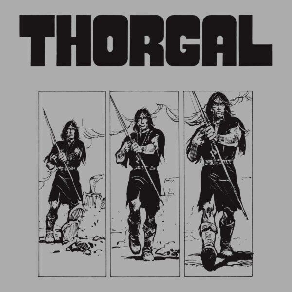 Thorgal kadry - T-shirt szary - wzór