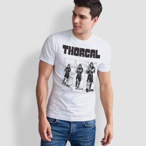Thorgal kadry - T-shirt męski biały - model