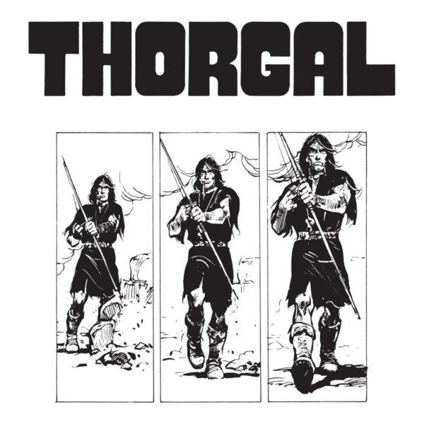 Thorgal kadry - T-shirt biały - wzór