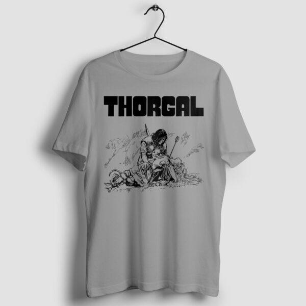 Thorgal i Pan 3 Orłów - T-shirt szary - wieszak