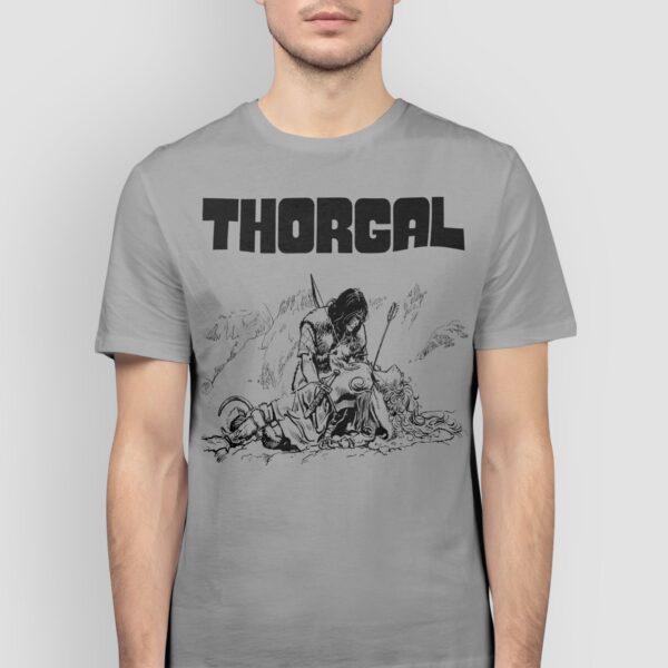 Thorgal i Pan 3 Orłów - T-shirt szary - model